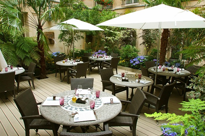 Restaurant les collections sofitel le faubourg paris 08 for Restaurant avec jardin terrasse paris