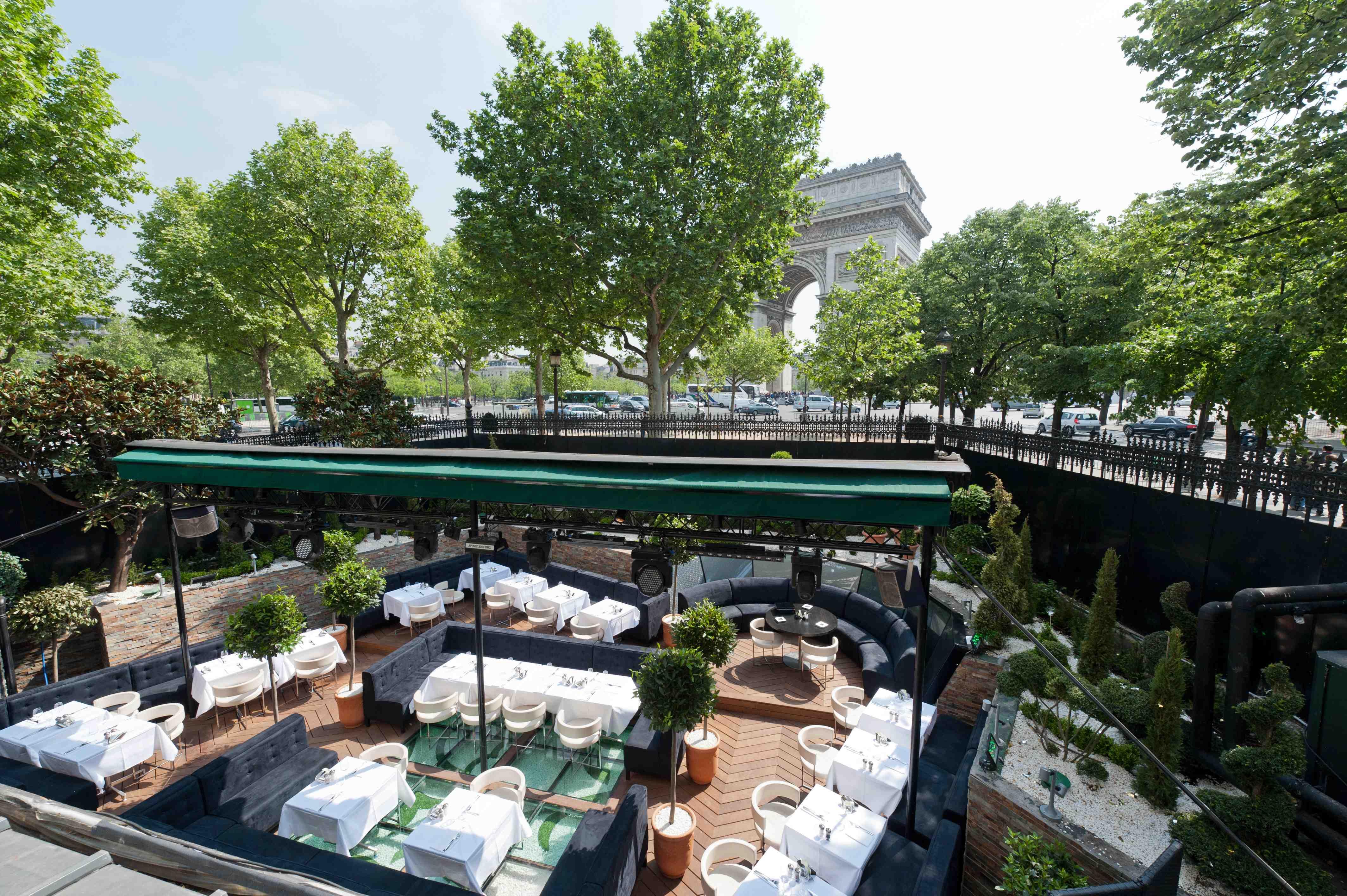 Terrasses branch es paris terrasse de l arc guides restaurants critiques et guide restaurant - Terrasse jardin resto paris toulouse ...