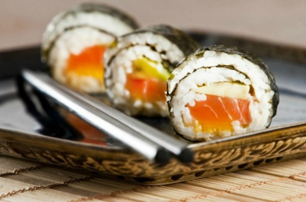 various types of japanese sushi